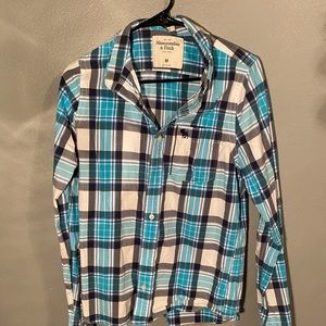 Blue Abercrombie & Fitch Dress Shirt